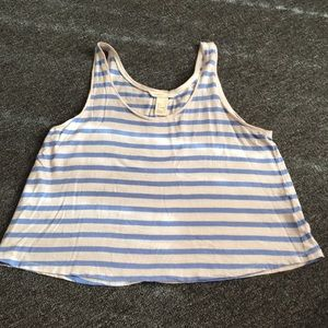 H&M Chic Striped Tank Top - Size: Small